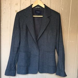 Burberry London grey wool blazer